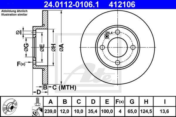 Scheibenbremse Hinten u.a ATE2 Bremsscheiben für VW Bremsen-Set