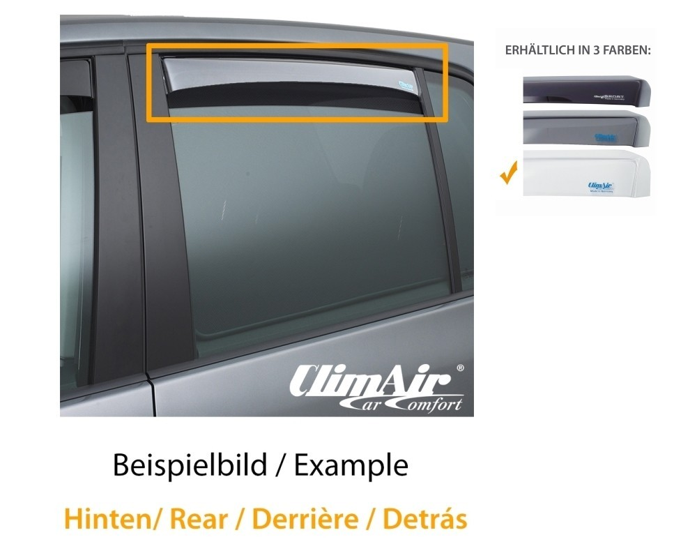 ClimAir Windabweiser hinten für Skoda Octavia III Kombi Typ 5E 5-Türer