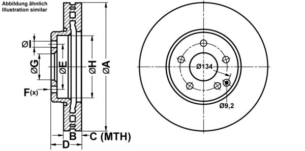 PLAQUETTES DE FREINS AVANTMercedes-Benz UAT2 DISQUES DE FREIN est aérée 304 mm