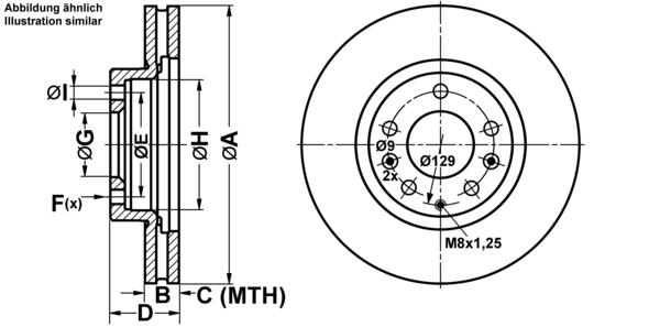 ATE2 Bremsscheiben Belüftet 295,6 mm Bremsbeläge Vorne für MAZDA