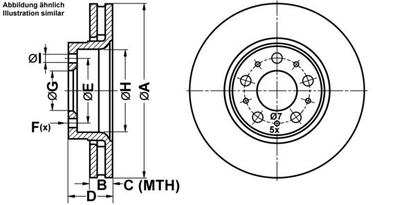 balatas delanterovolvo frenos-set Ate2 discos de freno ventilado 285 5 mm