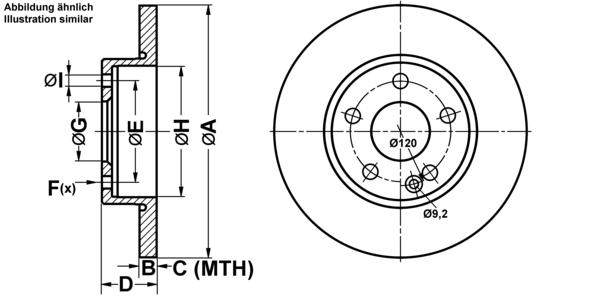 ATE2 Bremsscheiben Voll 276 mm Bremsbeläge Vorne für MERCEDES-BENZ