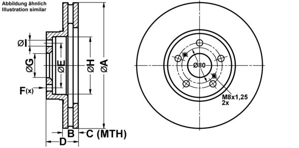 2 discos de freno Aireado 277 mm ATE ATE Almohadillas de freno Delantero para TOYOTA
