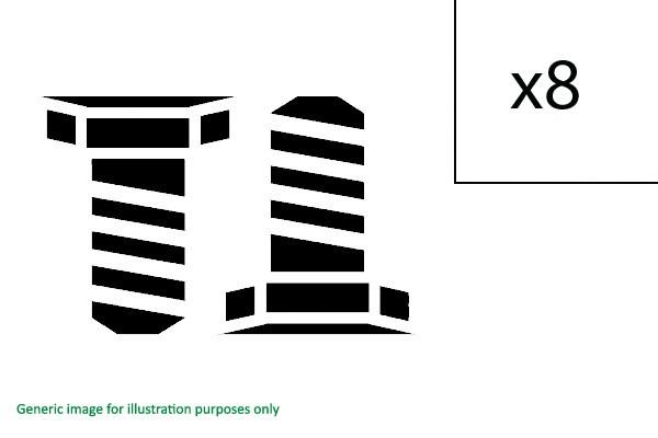 Placas de pista-frase 2x 10mm 5x100//5x112 10 tornillos m14x15 45mm incl