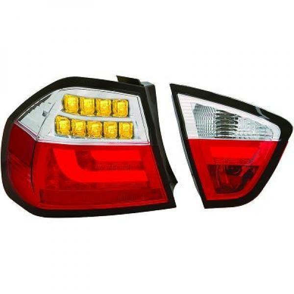 Light Bar LED Rückleuchten Heckleuchten für BMW E90 Limousine rot weiß
