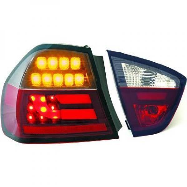 Light Bar LED Rückleuchten Heckleuchten für BMW E90 Limousine rot schwarz smoke