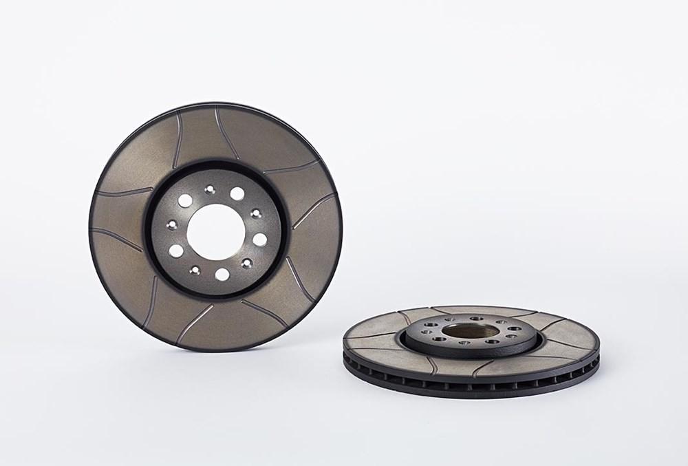 Brembo2 disques de frein fendu 288 mm Plaquettes De Freins Devant Freins-Set