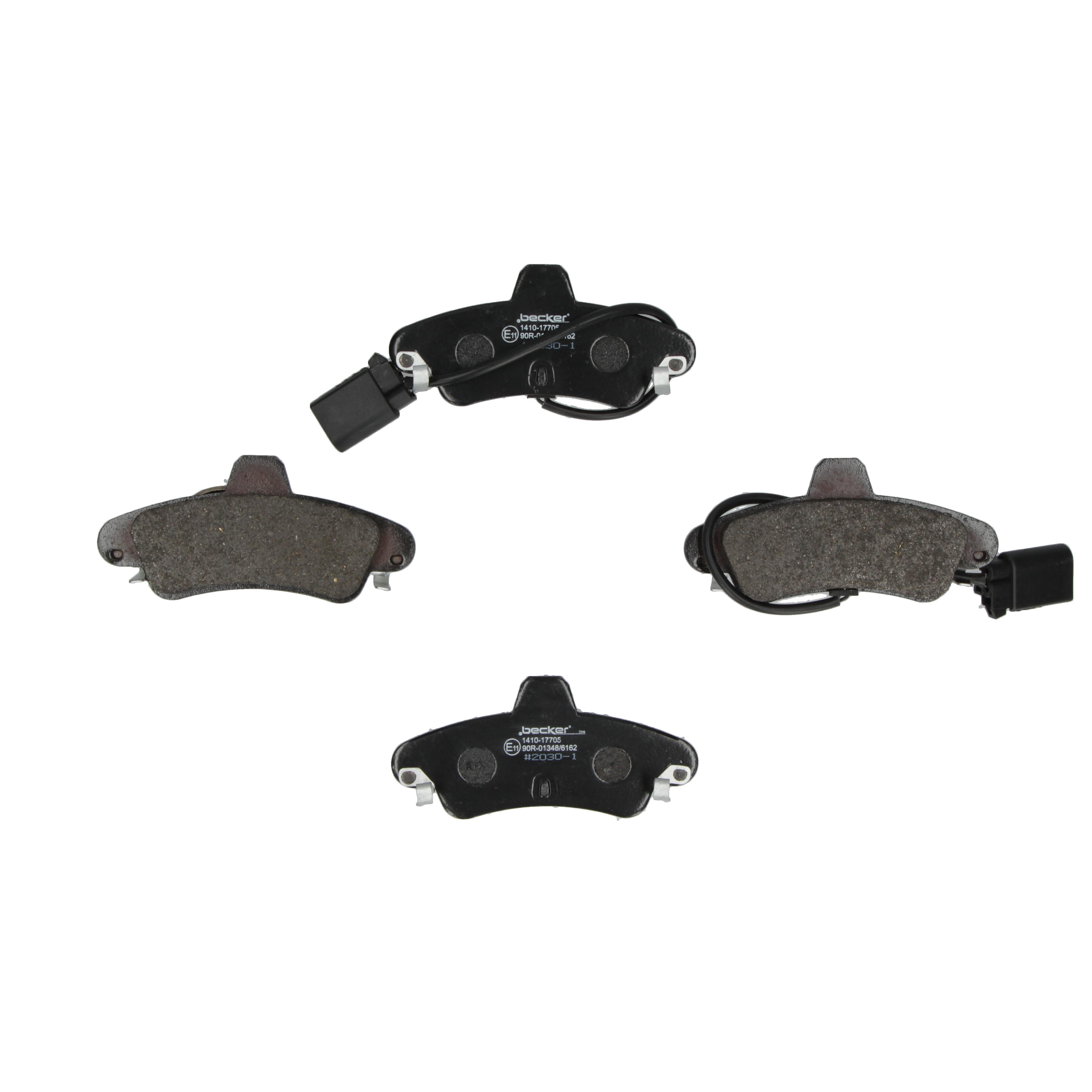 f.becker/_lineBremsbelagsatz Scheibenbremse Hinten u.a 104 10244 für Ford