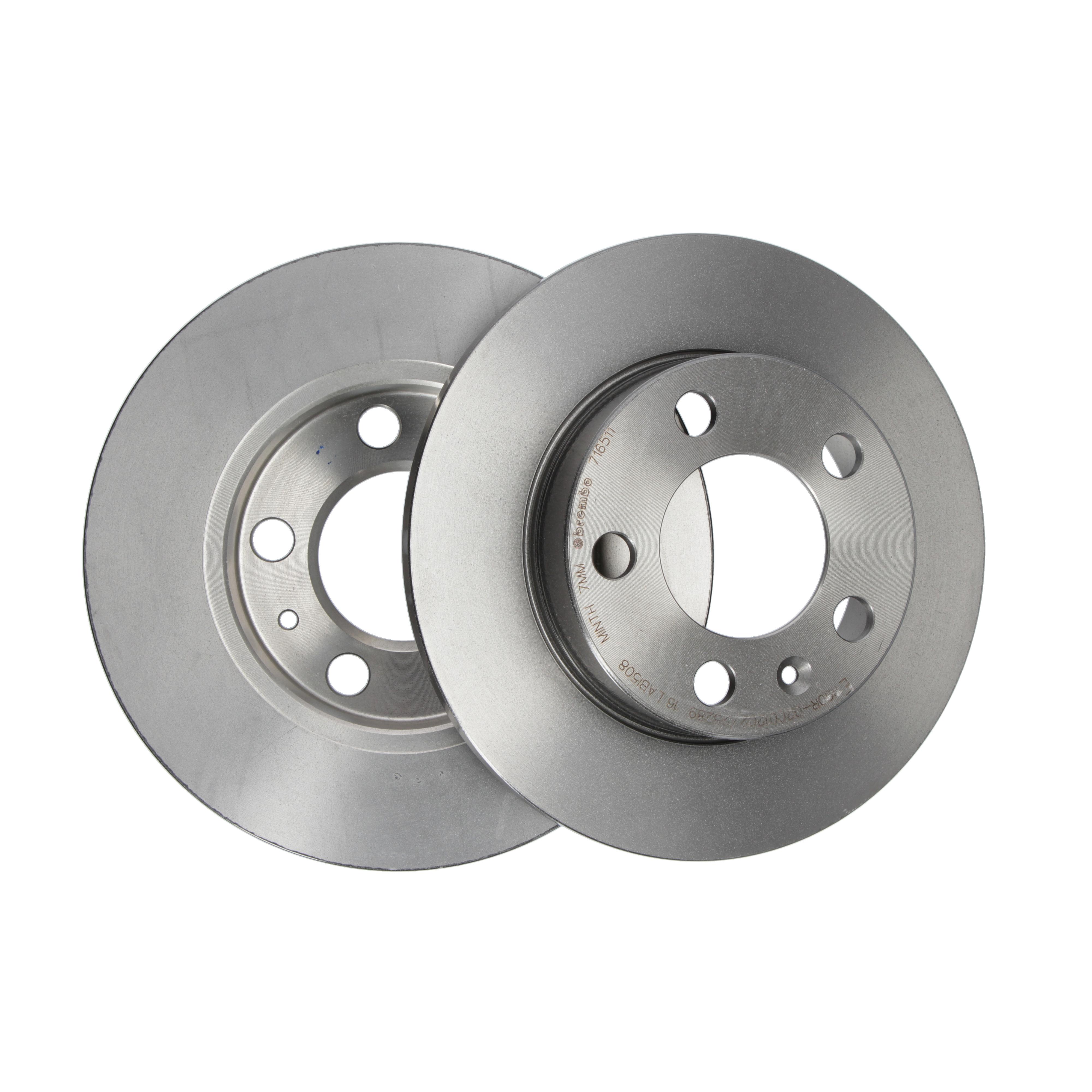 für VW Audi Bremsbeläge Hinten u.a Brembo2 Bremsscheiben Voll 245 mm